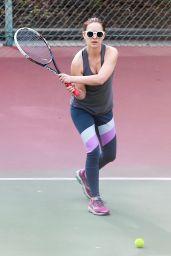 Natalie Portman - Plays Tennis in Los Feliz 11/15/2017