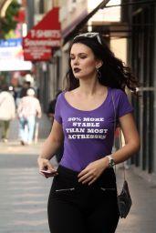 Natasha Blasick Street Style - Shopping in Hollywood