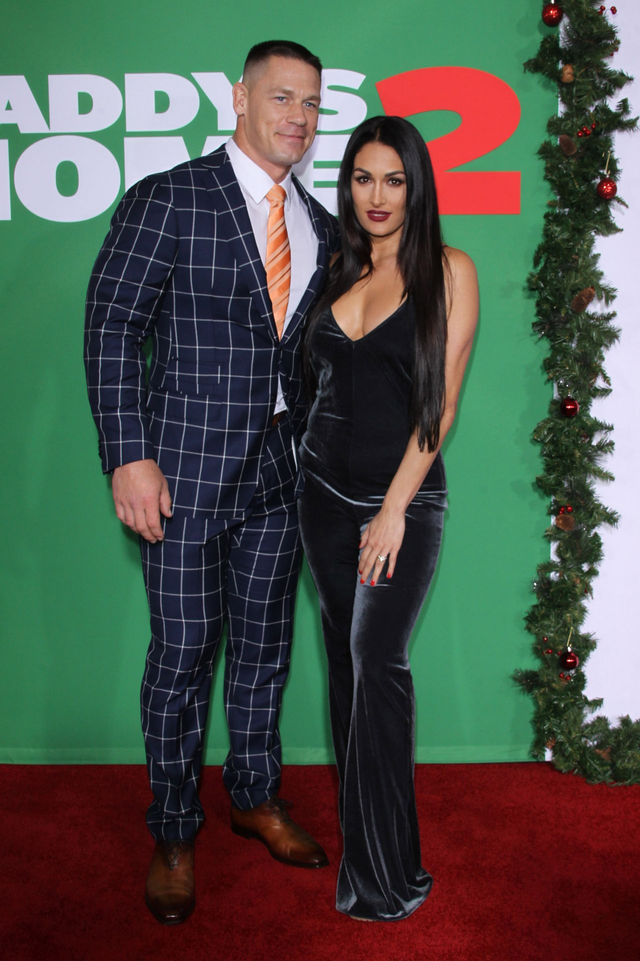 """Nikki Bella and John Cena – """"Daddy\'s Home 2"""" Premiere in Westwood"""