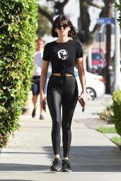 Nina Dobrev in Tights - West Hollywood 11/20/2017