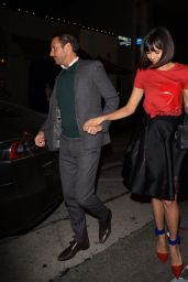 Nina Dobrev with Glen Powell - Leaving Craig