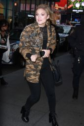 Olivia Holt Style - Leaving the MTV TRL Studios in NYC 11/22/2017