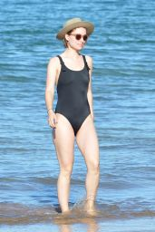 Olivia Wilde in a Black Swimsuit - Hawaii 11/19/2017