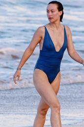 Olivia Wilde in a Blue Bikini on Hawaii 11/22/2017