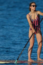 Olivia Wilde in Swimsuit - Paddleboarding in Hawaii 11/20/2017