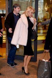 Pamela Anderson - Leaving Her Hotel in Warsaw 11/26/2017