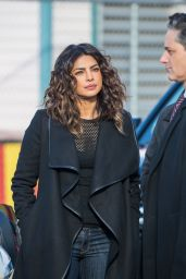 "Priyanka Chopra - ""Quantico"" Set at Coney Island in Brooklyn, New York  11/20/2017"