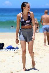 Rachael Finch in Bikini Top at Bondi Beach in Sydney 11/25/2017