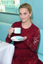 Reese Witherspoon Attends Tiffany & Co. Holiday Breakfast in NYC