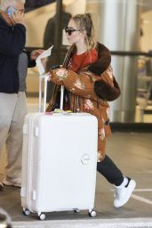Sabrina Carpenter in Travel Outfit - LAX in Los Angeles 11/24/2017