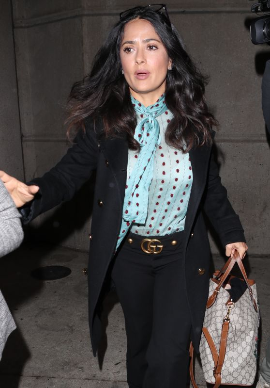 Salma Hayek in Travel Outfit - Departs LAX to London 11/16/2017