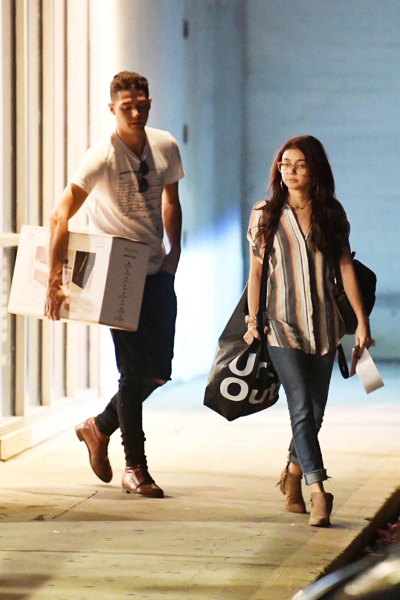 Sarah Hyland And Her New Boyfriend Wells Adams Shopping