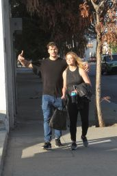 Sasha Pieterse With Gleb Savchenko - After Dance Practice in LA 11/15/2017