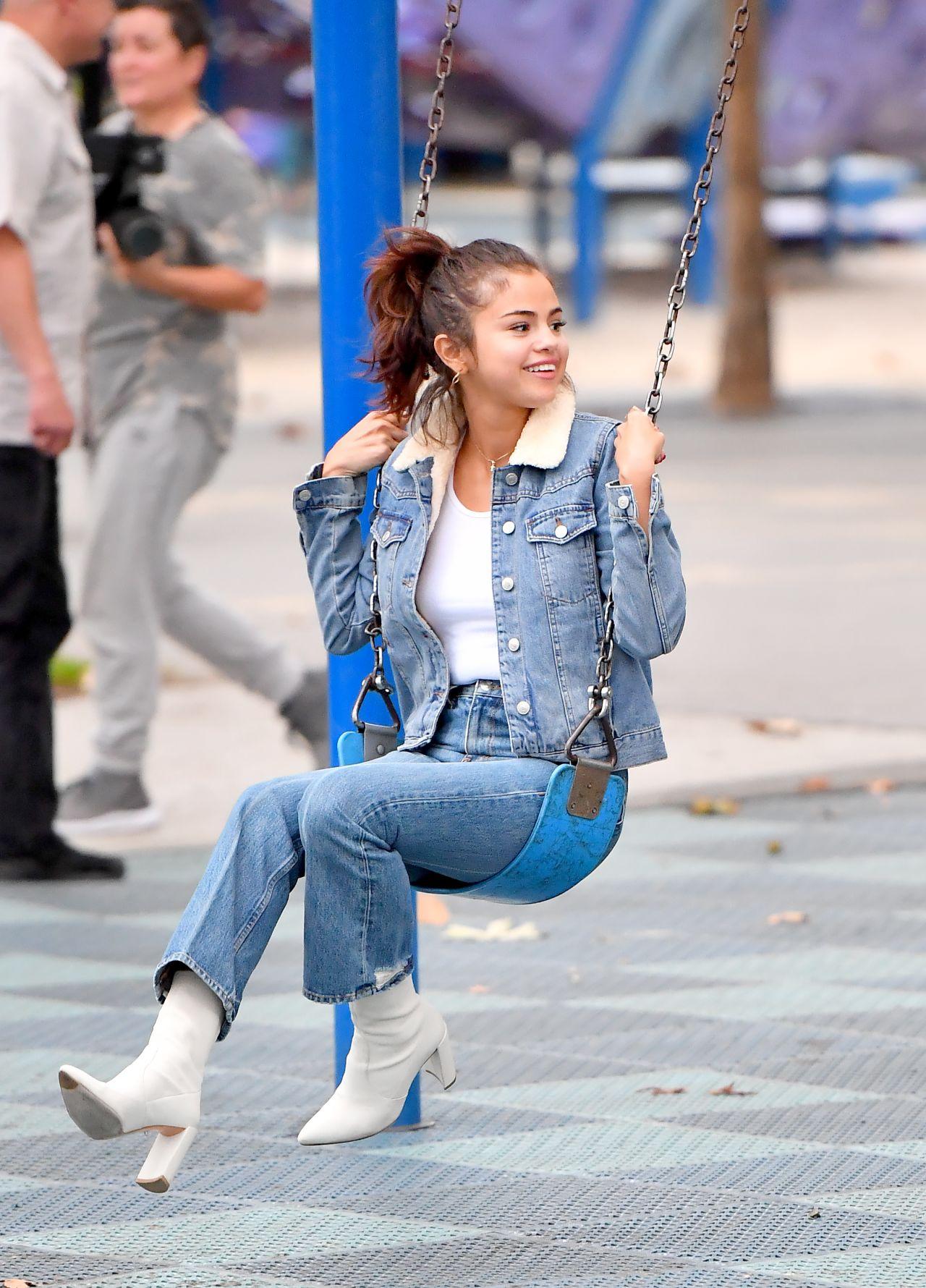 Selena Gomez Casual Style Burbank 11 02 2017
