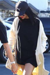 Selena Gomez Cute Street Style - Goes for Sushi in LA 11/18/2017