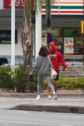 Selena Gomez - Goes for a Walk With Justin Bieber in LA 11/01/2017