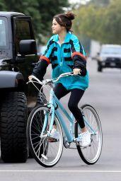 Selena Gomez - Riding Her Bike in Los Angeles 10/31/2017