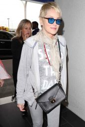 Sharon Stone - Arrives at LAX Airport in LA 11/01/2017