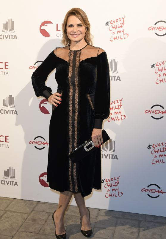 "Simona Ventura – ""Every child is my Child"" Charity Dinner in Rome 11/03/2017"