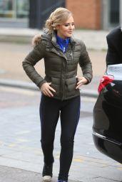 Stephanie Waring in Tights - Outside ITV Studio in London 11/24/2017