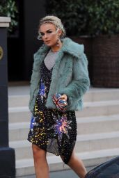 Tallia Storm - Leaving Her Hotel for the EMAs - London 11/12/2017