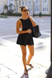 Tao Wickrath in a Black Mini Dress - Miami 11/20/2017
