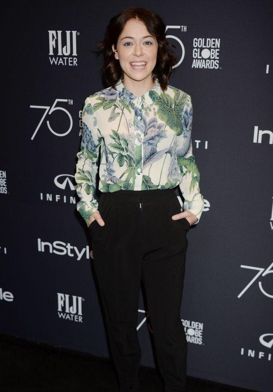 Tatiana Maslany – HFPA and InStyle Celebrate Golden Globe Season in Los Angeles 11/15/2017