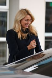 Tess Daly - Leaving Her Hotel in Blackpool 11/18/2017