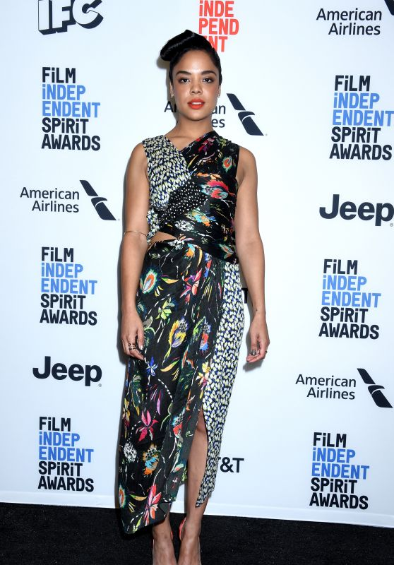 Tessa Thompson - Film Independent Spirit Awards Nominees Announcement in LA 11/21/2017