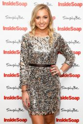 Tilly Keeper at Inside Soap Awards 2017 in London