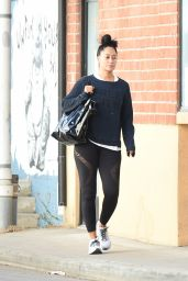 Tracee Ellis Ross in Spandex - Out in Los Angeles 11/24/2017