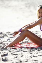 Victoria Hervey in Bikini on the Beach in Malibu