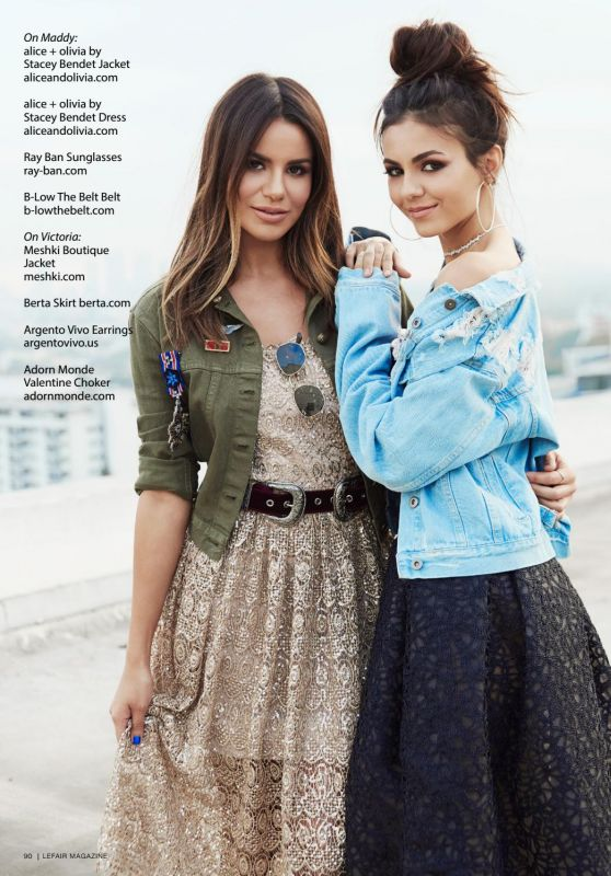 Victoria Justice & Madison Reed - Lefair Fall 2017 Issue