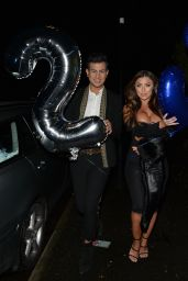 Abigail Clarke Night Out Style - Sheesh Restaurant in Chigwell, Essex
