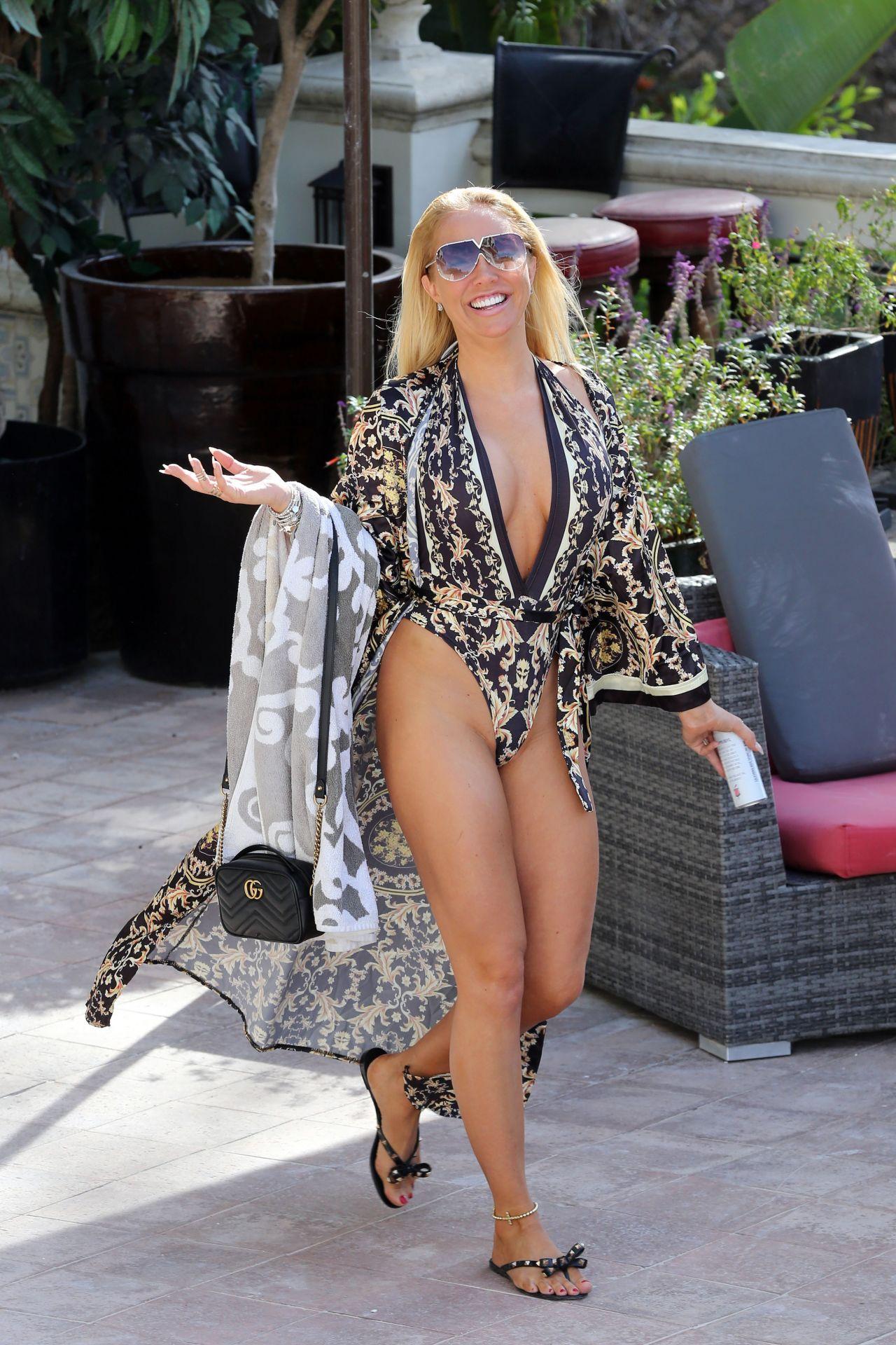 Aisleyne Horgan Wallace in Bikini Poolside in Los Angeles