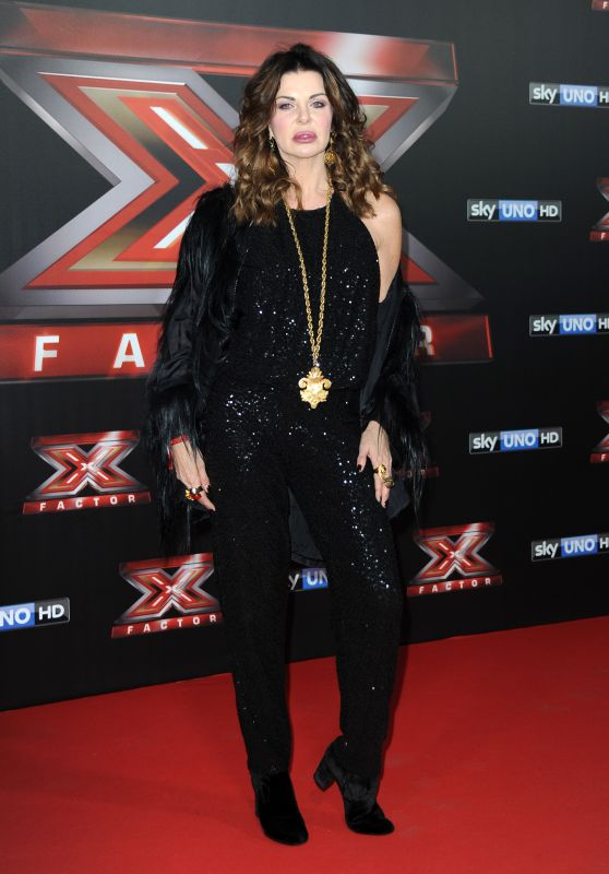 Alba Parietti – Italian X-Factor Final Stage Red Carpet in Milan 12/15/2017