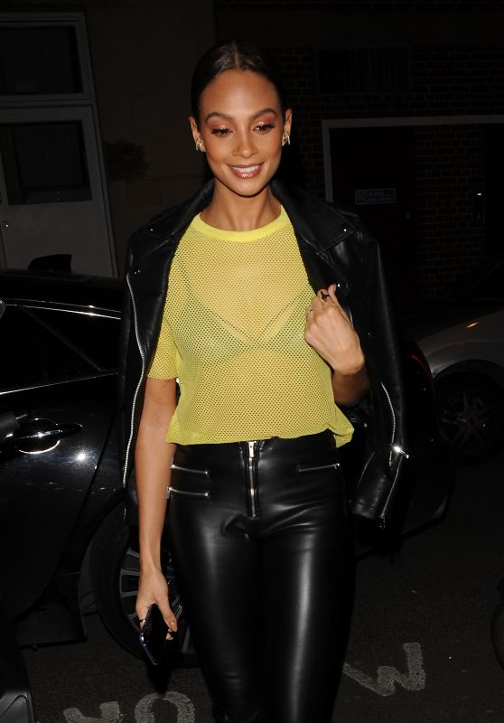 Alesha Dixon - Leaving Crazy Bear Fitzrovia Restaurant in London