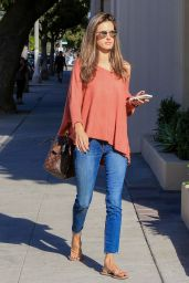 Alessandra Ambrosio Heading to Nail Salon in Santa Monica