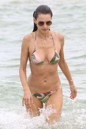 Alessandra Ambrosio in a Teeny Bikini On the Beach in Florianopolis
