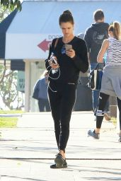 Alessandra Ambrosio in Tights - Brentwood 12/14/2017