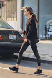 Alessandra Ambrosio in Tights - Out in Los Angeles 12/05/2017