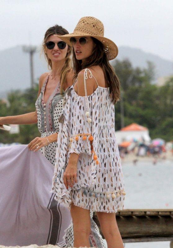 Alessandra Ambrosio Leaves Jurere Beach in Florianopolis