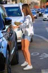 Alessandra Ambrosio Leggy in Jeans Shorts - Los Angeles 12/11/2017
