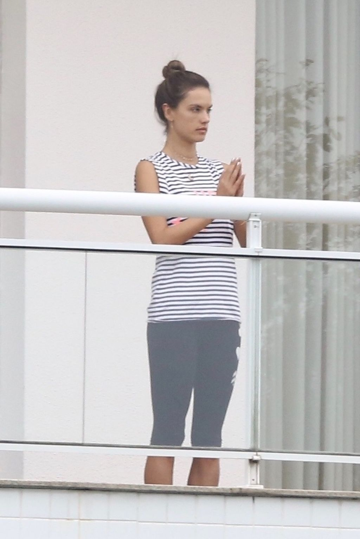 Alessandra Ambrosio on Her Balcony in Brazil 12/18/2017