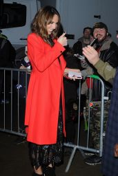 """Alex Jones - """"The One Show"""" at the BBC Studios in London 12/20/2017"""