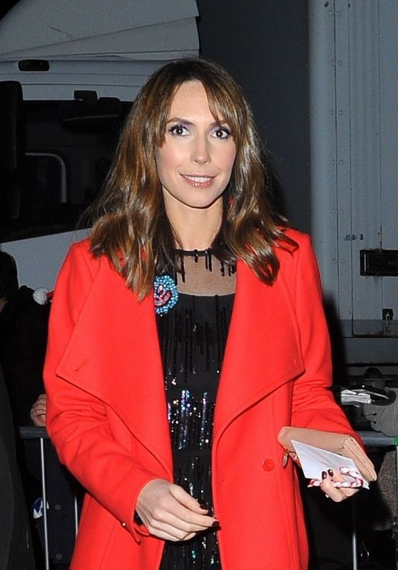 "Alex Jones - ""The One Show"" at the BBC Studios in London 12/20/2017"