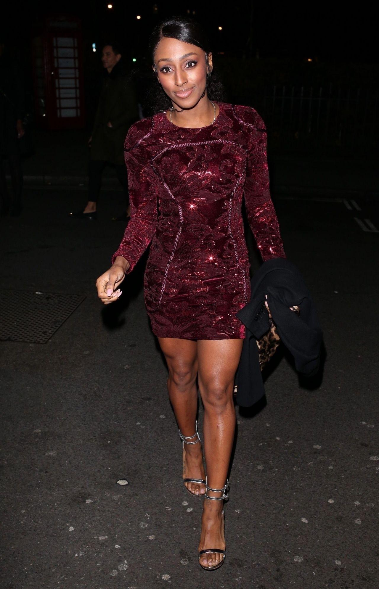 Alexandra Burke Night Out Style - London 12/23/2017