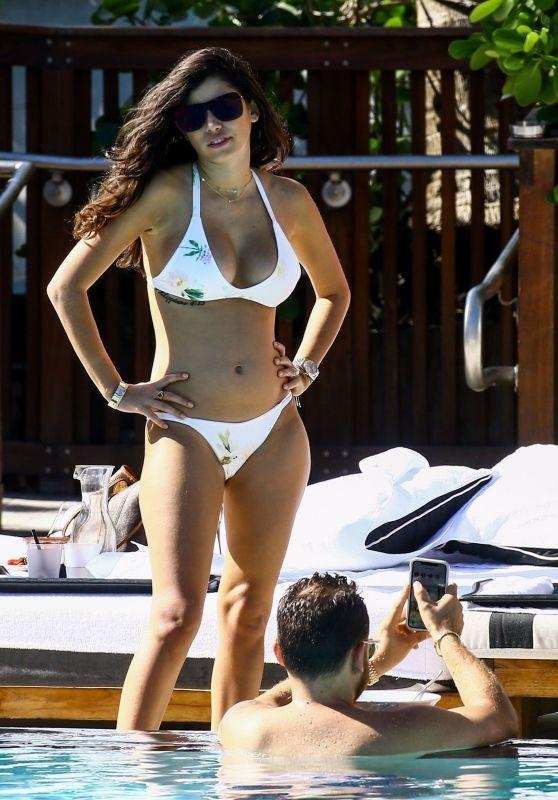 Alexandra Michelle Rodriguez in Bikini at the Pool in Miami 12/05/2017