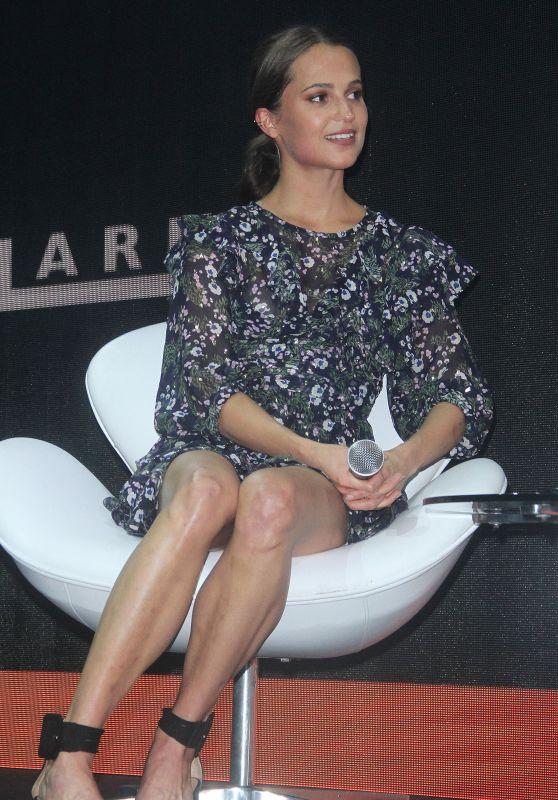 """Alicia Vikander - """"Tomb Raider"""" Press Event at Comic Con Experience in Sao Paulo 12/10/2017"""