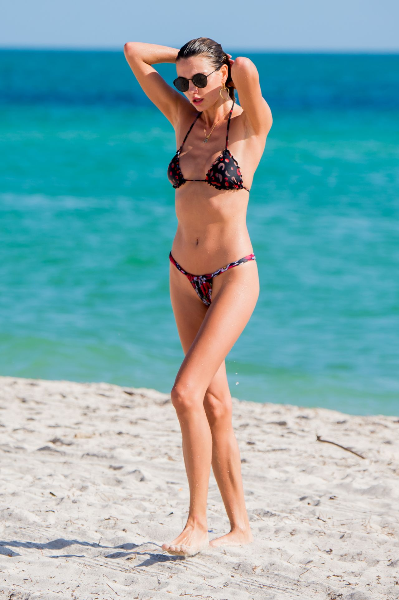 Alina Baikova in Bikini on the beach in Miami Pic 8 of 35